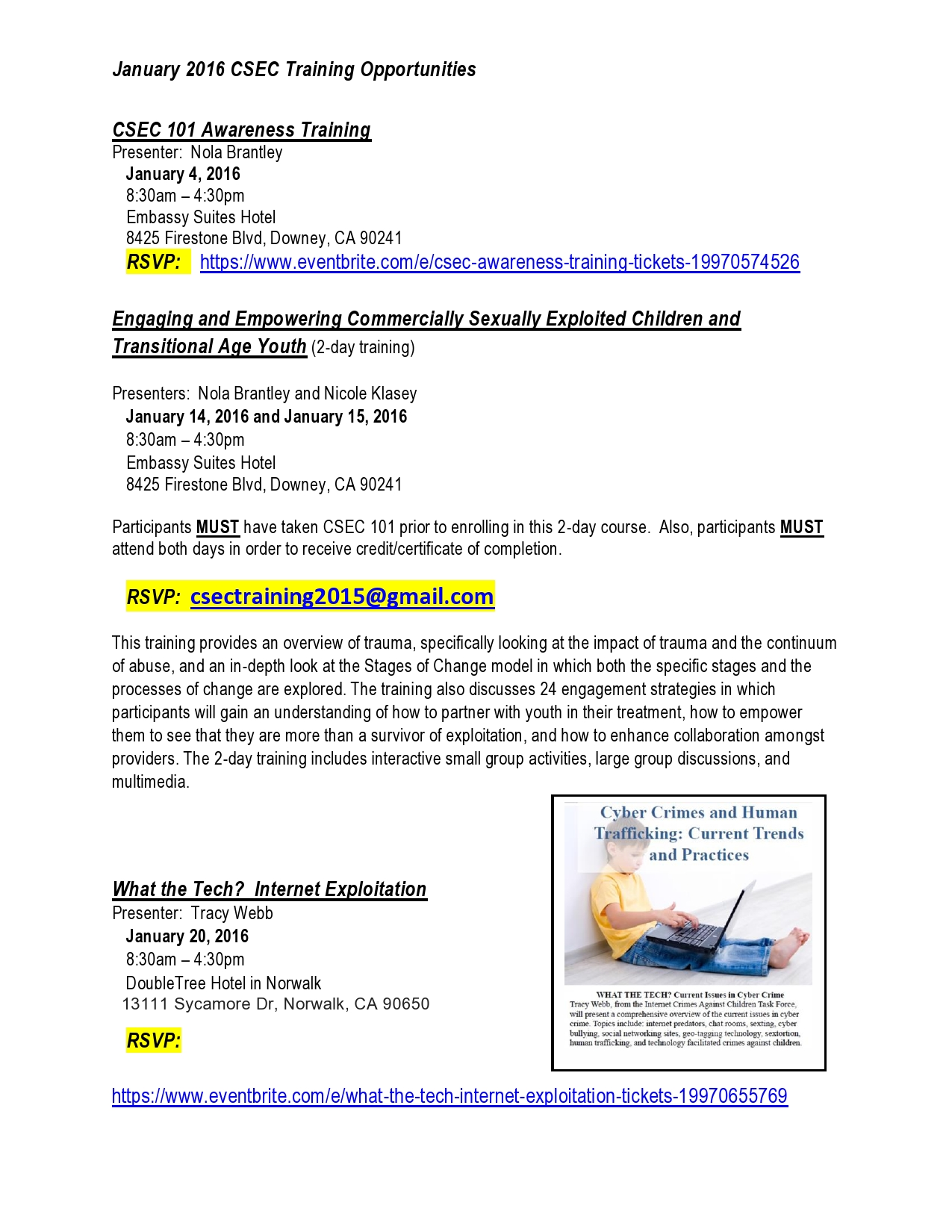 JANUARY CSEC TRAINING OPPORTUNITIES-page0001